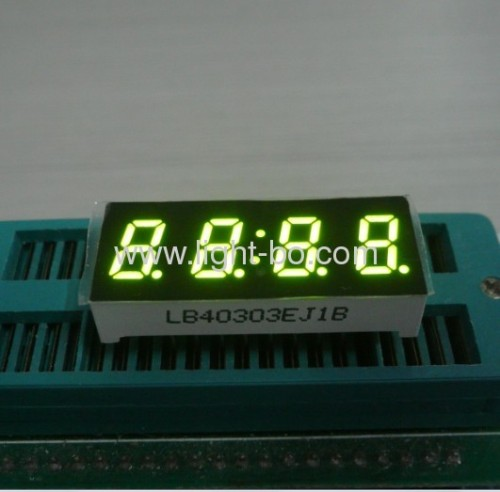 "4 digit 0.3"" common cathode super bright green 7 segment small led clock displays"