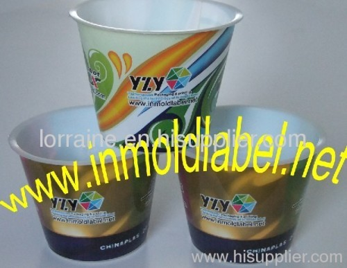 IML label for plastic cup