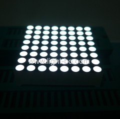 1.89 inches white 8 x 8 dot matrix led displays with package dimensions 48 x 48 mm