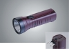 Brown ABS LED rechargeable torch
