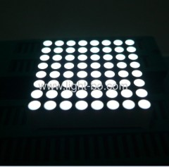1.5 inches white 8 x 8 dot matrix led displays with outer dimensions 38 x 38 mm