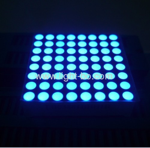 3.7mm Blue 8 x 8 dot matrix led display for Lift Position Indicators 38*38*10.3mm