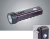 1+1pcs high quality LED rechargeable flashlight