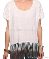 ombre fringe tee