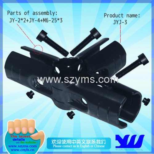 4 Ways connector Lean Tube Joints JYJ-4