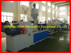 pvc double pipe extruder machine
