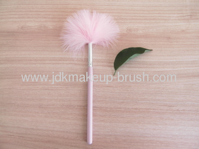 Pink soft Turkey Feather Brush(JDK-PBS-S055)
