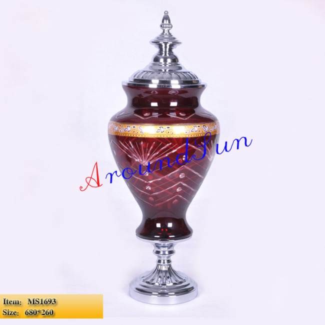 home cecoration / glass craft / vase / craft ornaments / table lamp