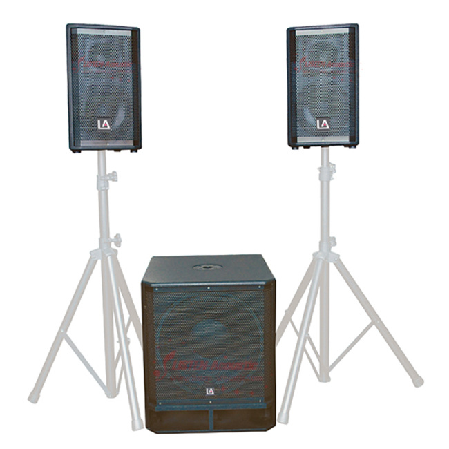 2.1 ACTIVE big power stage wooden speaker combo system