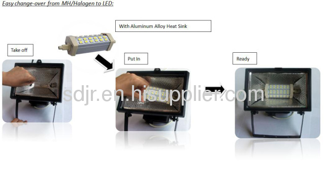 118mm 10w R7S led lamp double ended