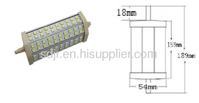 189mm 13w R7S led lamp double ended