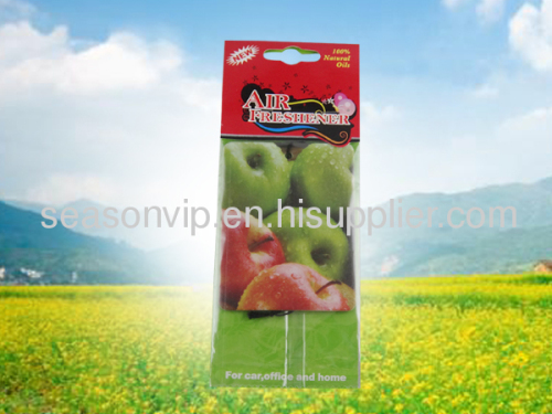 fruits paper car air freshener