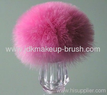 Refillable Turkey Feather Powder Brush/ Powder Bottle