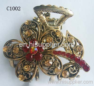 C1002 Flower Shape Zinc Alloy Hairpins