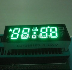"4 digit 0.38"" common cathode pure green digital oven timer led displays"