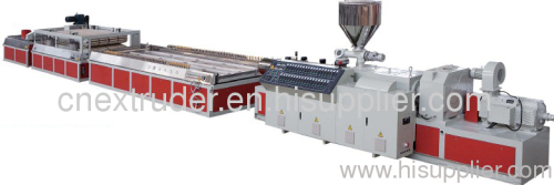 PVC WPC wide door board extrusion line