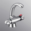 Thermostatic basin mixer