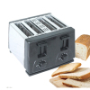 Bread Roaster with Stainess steel 4 slice toaster