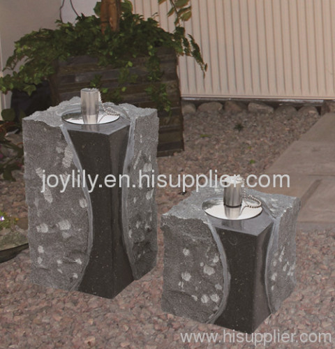 outdoor stone oil lamp