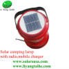 Solar camping lantern with radio mobile charger