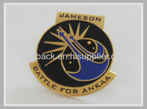 Army soft ename lapel pins with 1.25, butterfly clutch on back