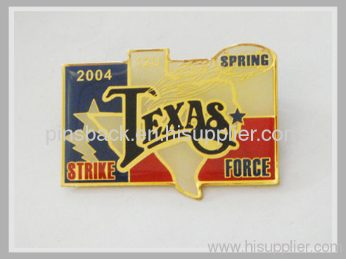 metal trading pins for TEXAS
