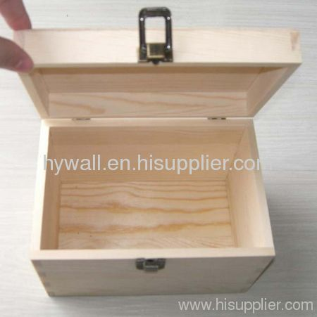 Wooden gift boxes hinged & clasp