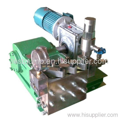 High flow rate electric test pump