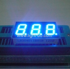"3 digit 0.4"" common anode blue 7 segment led display"