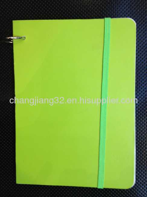 Fluorescent paper cover notebook
