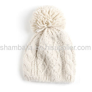 Wholesale Ladies Fashion Knitting Hat Chunky Knitted Wool Hats