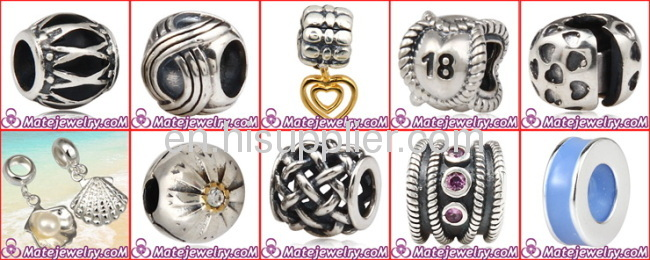2013 New Design european 925 Sterling Silver Weave Beads For Bracelets