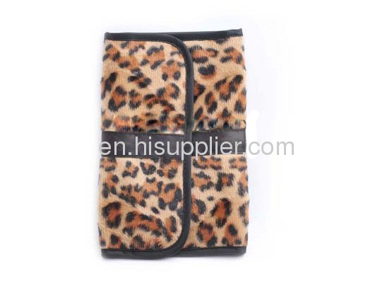 fashion & hotest !! leather leopard cosmetic bag