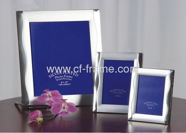 5x7matel sliver plated picture frame for home decor