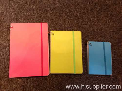 Neon paper cover notebook