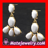 Fashion White Resin Kate Spade Plaza Athenee Chandelier Earrings