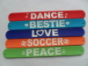 Eco-friendly Material Silicone wristband Top Quality Slap Bracelets
