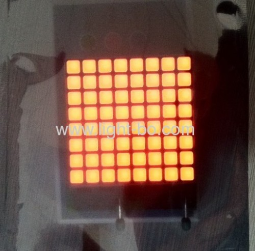 Red/Green 2.4-Inch 6mm 8 x 8 Square dot matrix LED display, 60x60x9mm,Used for Quene management systems,message boards
