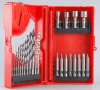 Mibro 24pc Drill Bit Set High Speed Masonry Screwdriver Tool Home Tape Measure