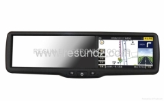 Rearview Mirror GPS Navigation with 4.3 inch Touch Screen built-in HD DVR