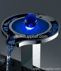 New design led tap Color Changing LED Waterfall Bathroom Sink Faucet
