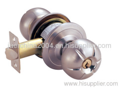Cylindrical knob lock