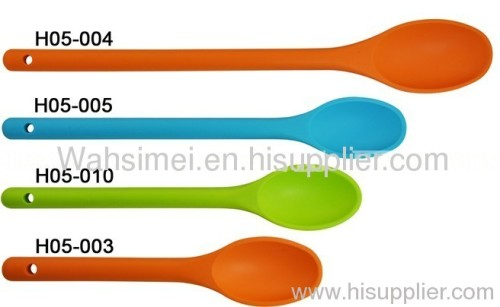 Environmental Green Silicone Soup Spoons for Promotion