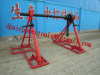 Cable drum trestles made of cast iron Jack towers