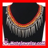 Handmade Gothic Punk Bib Tassel Necklace Fashion Jewelry