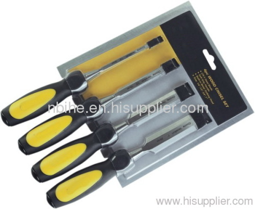 4pcs High-Level Wooden Chisel Set half double blister card packing