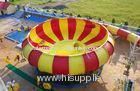 Aqua Park Equipment Fiberglass Water Slides, 19m Height Waterpark Super Bowl For 2 People