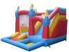 Combo inflatable bounce house slide with pool