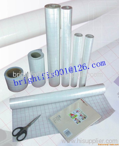 PVC /PP transparent REACH approved self adhesive bookcover film