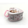 heart shaped tin box for wedding, chocolate box with handle, heart tins, chocolate packing box,candy tin case